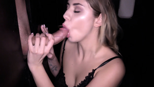 Julie Red swallowing 13 gloryhole loads