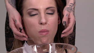 Victoria Daniels swallowing 61 big loads