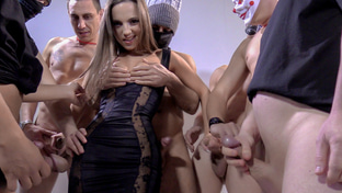 Kristy Black swallowing 11 blowbang loads