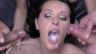 Carolina Vogue swallowing 67 big loads