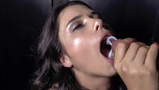 Mira Cuckold swallowing 14 gloryhole loads