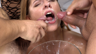 Rebecca Volpetti swallowing 115 big loads