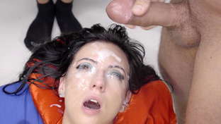 Sherry Vine swallowing 17 gangbang loads