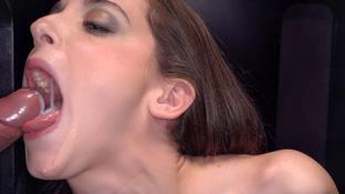 Anita Teen swallowing 26 gloryhole loads