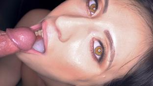 Sherry Vine swallowing 35 gloryhole loads