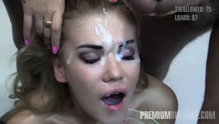 Eva #1 - swallowing 94 big loads