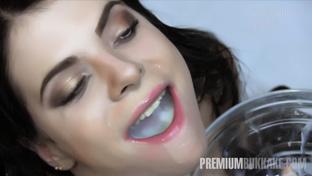Elya #2 - swallowing 60 big loads