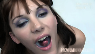 Michelle #2 - swallowing 71 big loads