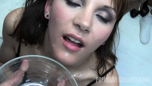 Michelle #1 - swallowing 83 big loads