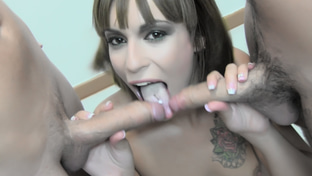 Silvana #4 - swallowing 65 big loads