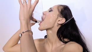 Nicole Love swallowing 43 cum loads